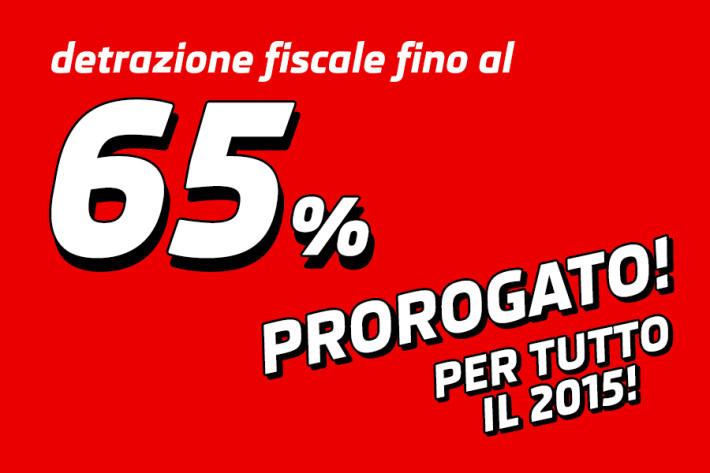 Detrazione fiscale estesa per tutto il 2015 rollin for Detrazione 65